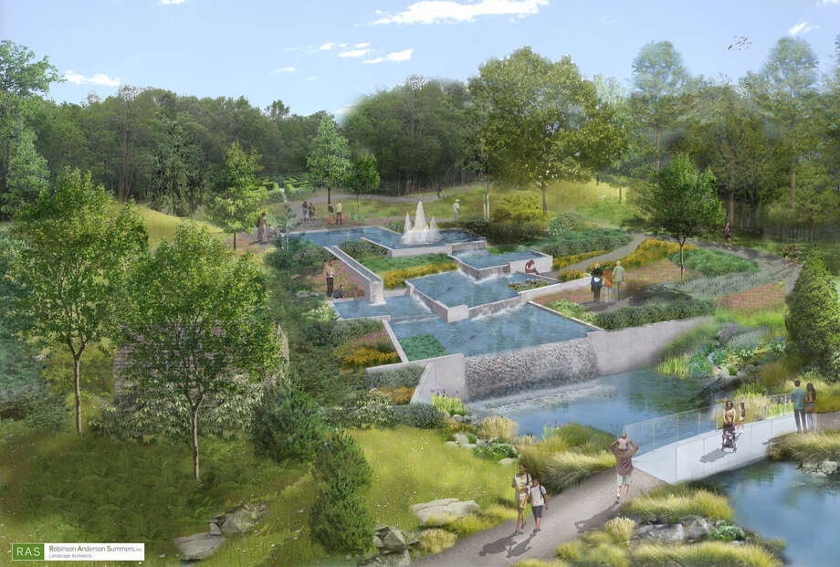 The Cascade Garden of connected pools is among the elements of a master plan for the future Delaware Botanic Gardens, a 37-acre horticultural attraction now under development in Sussex County. ( Photo: Robinson Anderson Summers Landscape Architects) / The Washington Post