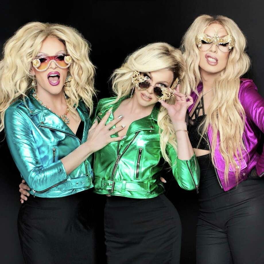 The AAA Girls are, from left, Willam, Courtney Act and Alaska. Photo: Project Publicity