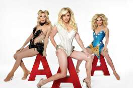 The AAA Girls are, from left, Alaska, Courtney Act and Willam.