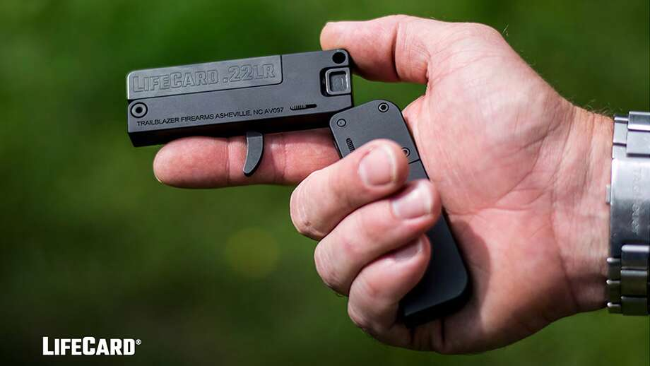 A newly-minted gun manufacturer out of Asheville, North Carolina called Trailblazer Firearms recently rolled out a new unique handgun called the LifeCard. This is the brand's first product. The single-shot .22 LR folding pistol released in early August folds into a package no larger than a stack of credit cards and is able to be handily carried in the owner's pocket.See more photos of this pint-size firearm... Photo: Trailblazer Firearms