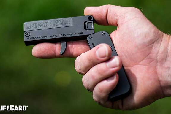 A newly-minted gun manufacturer out of Asheville, North Carolina called Trailblazer Firearms recently rolled out a new unique handgun called the LifeCard. This is the brand's first product. The single-shot .22 LR folding pistol released in early August folds into a package no larger than a stack of credit cards and is able to be handily carried in the owner's pocket.