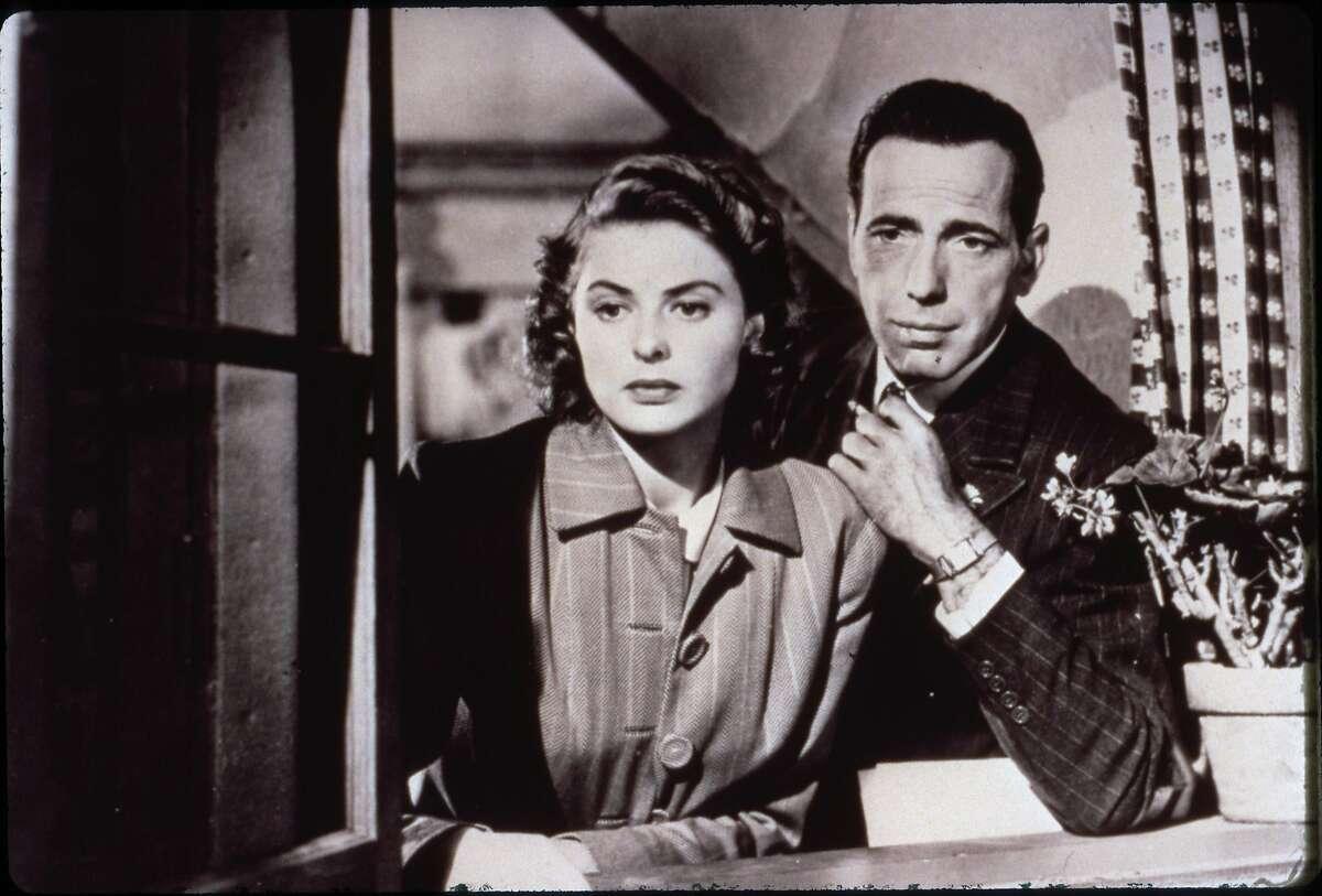 CASABLANCA - (1942) Ingrid Bergman, Humphrey Bogart. HOUCHRON CAPTION (06/12/2002): American Film Institute ranks the 100 greatest love stories. HOUCHRON CAPTION (02/13/2003): Ingrid Bergman and Humphrey Bogart star in the 1942 classic Casablanca.