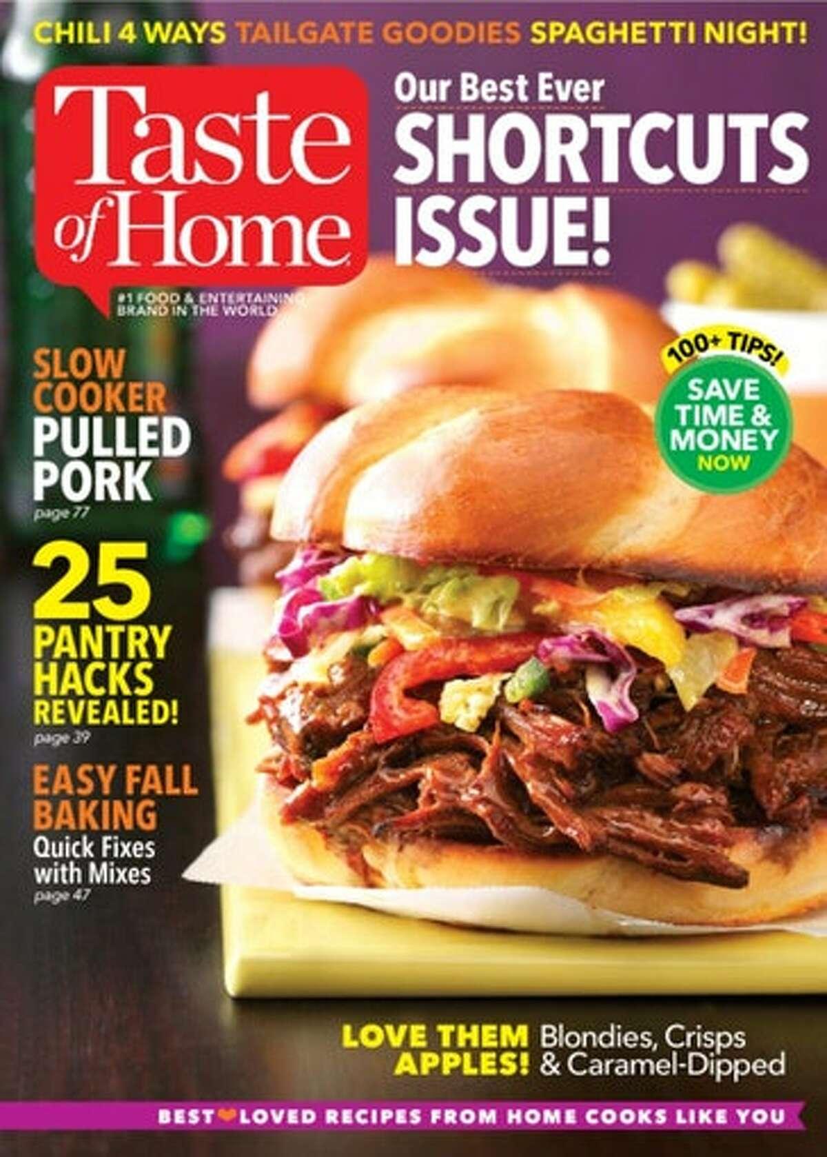 Cover of Taste of Home magazine.