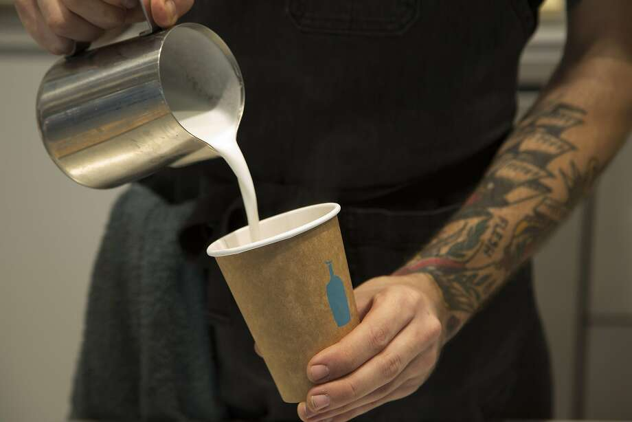 A barista prepares a drink at Blue Bottle Coffee. Explore the gallery to see the top rated coffee spots in San Francisco, according to Yelp. Photo: Myung J. Chun, TNS
