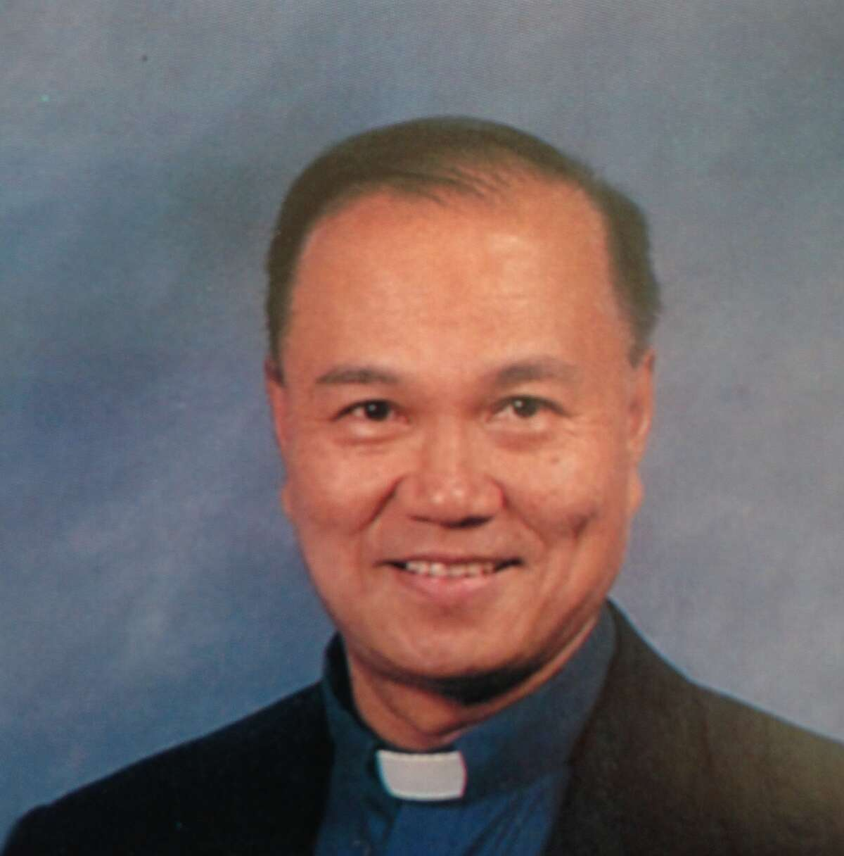 Father Frederico Ablog died from injuries caused by a four-car crash.