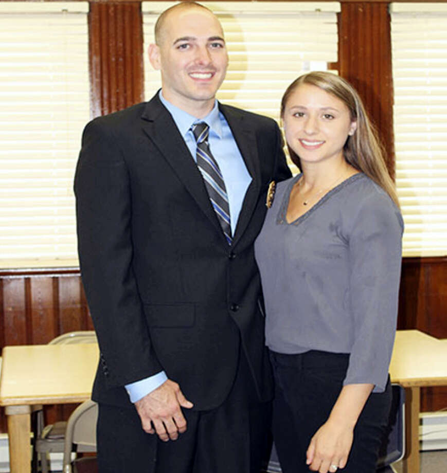 Portland Police Officer Joshua Bailey and his wife, Lauren. Photo: Courtesy Town Of Portland
