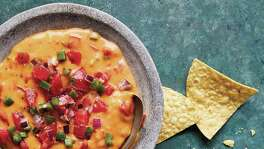 "San Antonio-Style Vegan Queso from ""Queso! Regional Recipes for the World's Favorite Chile-Cheese Dip"" by Lisa Fain."