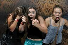 Halloween is the spookiest time of year, and visitors to the   Nightmares Fear Factory in Niagara Falls, Canada   experienced first-hand fright that was hilariously captured on hidden camera for all to see.