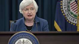 File photo of Janet Yellen, chair of the U.S. Federal Reserve. Policymakers left the benchmark interest rate unchanged in a range of 1 percent to 1.25 percent. U.S. central bankers are counting on steady growth and low unemployment to raise inflation closer to their goal, which would support their policy of gradual tightening through interest-rate increases and a reversal of quantitative easing.