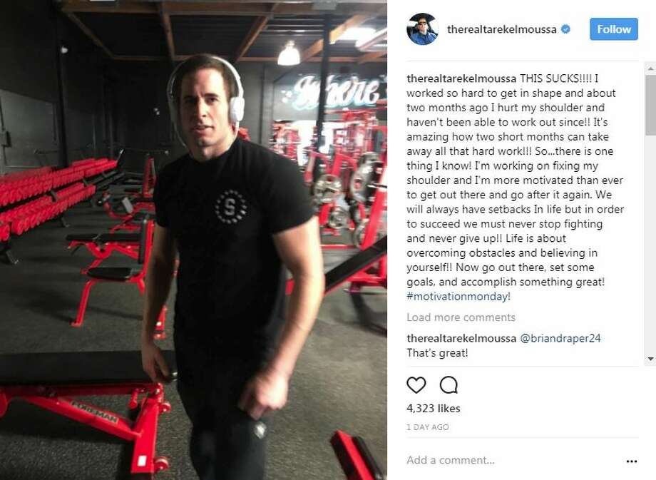 """Flip or Flop"" star Tarek El Moussa, who in the past has battled two different forms of cancer, took to Instagram on Monday to detail a shoulder injury. ""THIS SUCKS!!!! I worked so hard to get in shape and about two months ago I hurt my shoulder and haven't been able to work out since!!"" El Moussa posted on Instagram. Photo: Tarek El Moussa Via Instagram"
