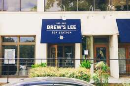 The storefront of Brew's Lee Tea. The awning outside the store went up on Sept. 19, 2017.