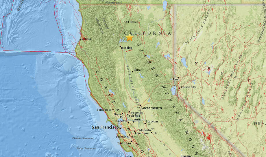 A magnitude 3.8 earthquake struck at 10:10 near Burney California on Sept. 20 2017