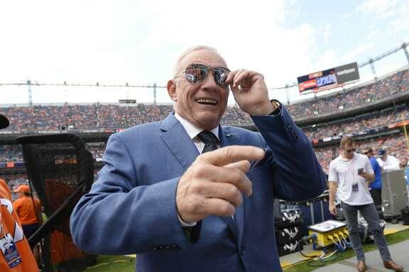 DENVER, CO - SEPTEMBER 17: The Dallas Cowboys owner, president and general manager Jerry Jones during warmups before the game against the Denver Broncos. The Denver Broncos hosted the Dallas Cowboys at Sports Authority Field at Mile High in Denver, Colorado on Sunday, September 17, 2017. (Photo by John Leyba/The Denver Post via Getty Images)