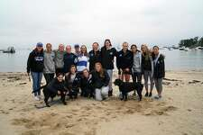 Darien High School Blue Wave Swim and Dive Team Support the JR Forever Memorial Run/Walk.