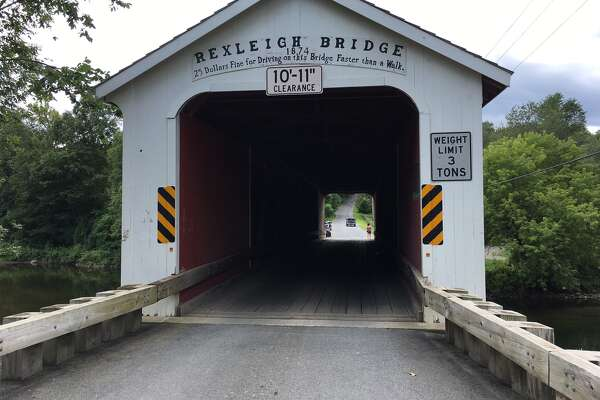 The Rexleigh covered bridge, which spans the Batten Kill in Washington County. (Photo by Eric Anderson)