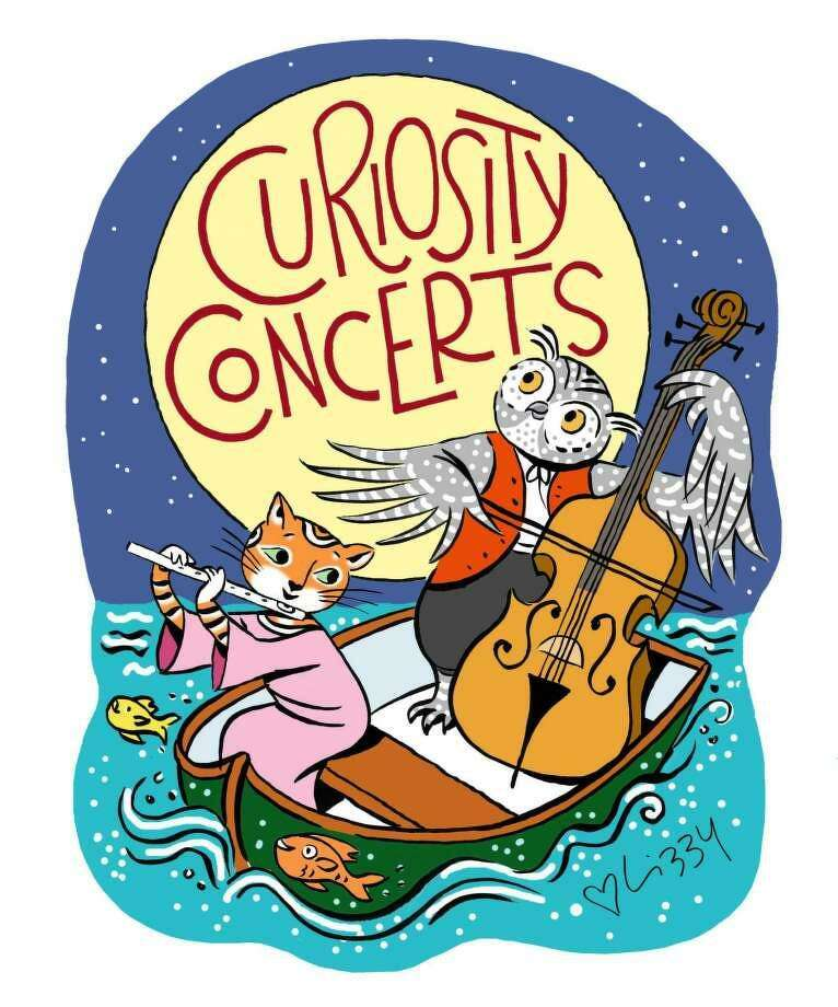 The illustration for Curiosity Concerts created by artist Lizzy Rockwell in the Old Greenwich studio of her parents, Anne and the late Harlow Rockwell. Photo: / Contributed