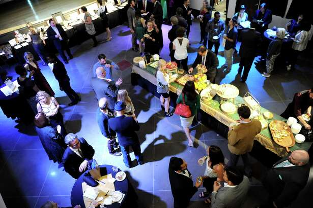 The Fusion fundraiser scene on Friday, Oct. 17, 2014, at the Albany Barn in Albany, N.Y. (Cindy Schultz / Times Union)