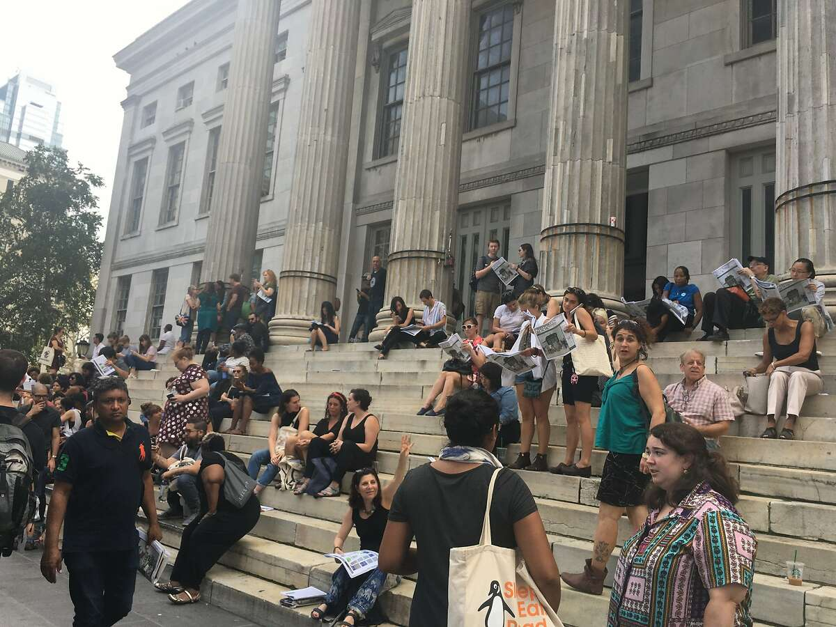 The crowd at the Brooklyn Book Festival.