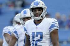 Detroit Lions wide receiver Noel Thomas (12) before a preseason NFL football game Aug. 31 in Orchard Park, N.Y.
