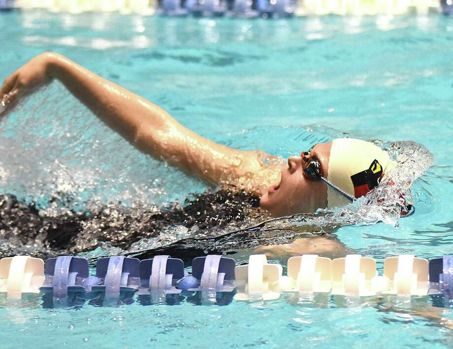 Greenwich senior Kelly Montesi won the 100-yard butterfly title at the State Open championships last season and was the champion in the event at the Class LL meet. Photo: John Nash / Hearst Connecticut Media / Norwalk Hour