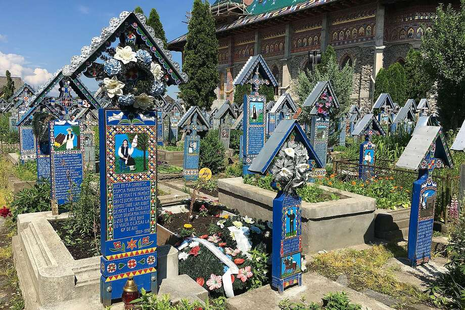 "This irreverent ""Merry Cemetery"" in the north of Romania is a celebration of life, with poems and unique painted memorials dedicated to the deceased. Photo: Rick Steves' Europe"