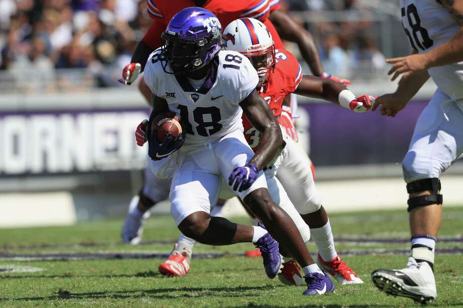 Anderson's 3 TDs lead No. 16 TCU past No. 6 Oklahoma St.