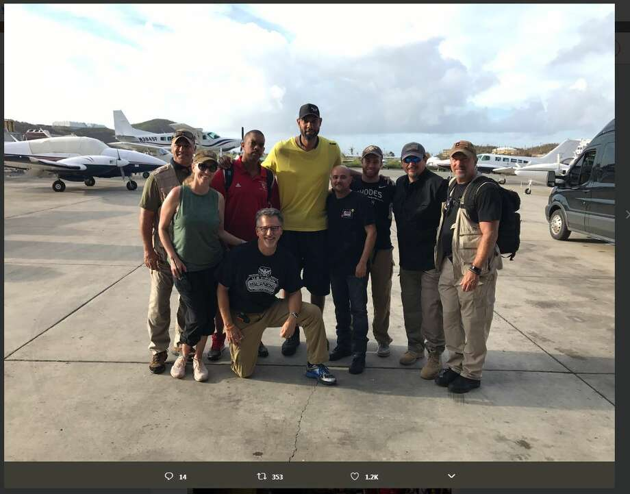 Duncan USVI Relief, a Twitter account set up after retired Spurs star Tim Duncan started a fundraiser for his native St. Croix, tweeted these photos of Hurricane Irma relief efforts before Hurricane Maria passed by. Photo: Twitter