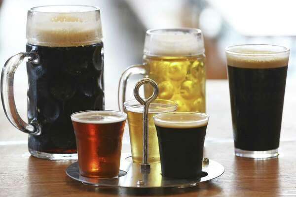 Beer from Krause's 70-tap beer wall comes in liters, half-liters, pints and three-beer flights.