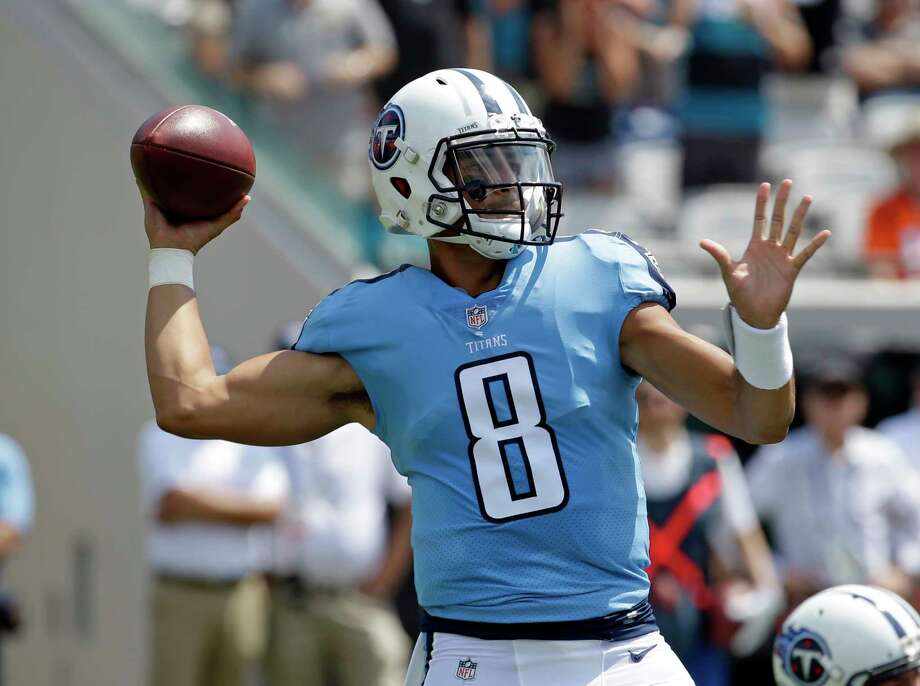 Tennessee Titans quarterback Marcus Mariota (8) faces a stiff test this week when Seattle visits Nashville. Photo: John Raoux, STF / Copyright 2017 The Associated Press. All rights reserved.