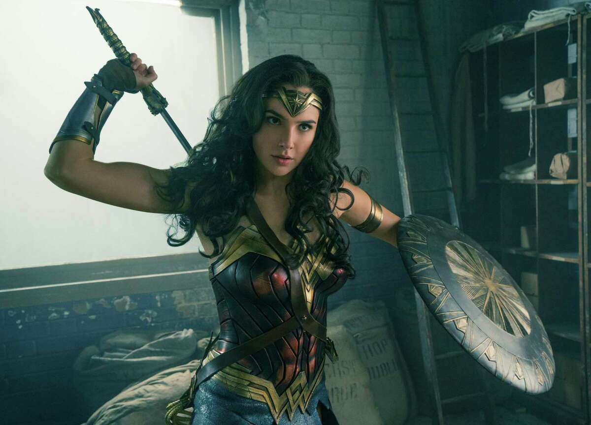 """This image released by Warner Bros. Entertainment shows Gal Gadot in a scene from """"Wonder Woman,"""" in theaters on June 2. (Clay Enos/Warner Bros. Entertainment via AP) ORG XMIT: NYET511"""