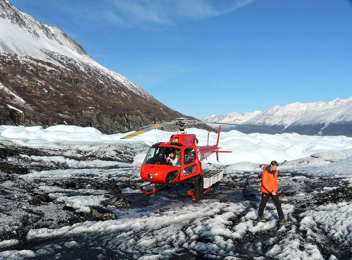 Taking a helicopter to one of the many glaciers in the area is one of the more popular diversions in Anchorage.