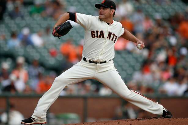 San Francisco Giants starting pitcher Matt Moore throws against the Colorado Rockies in the first inning at AT&T Park in San Francisco on Wednesday, Sept. 20, 2017. (Nhat V. Meyer/Bay Area News Group/TNS)