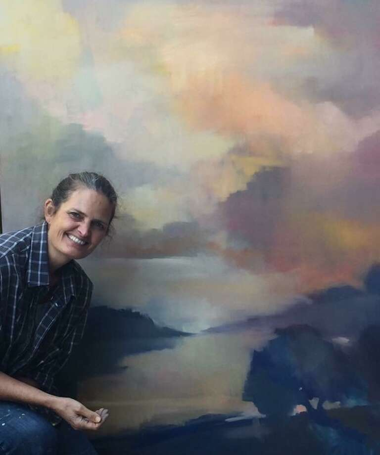 Erin Gafill, a lifelong resident of Big Sur, uses a secret Facebook group to teach art to her students. Photo: Tom Birmingham