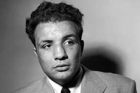 A portrait dated May 1949 of US boxer Jake LaMotta. AFP PHOTO / AFP PHOTO / ACME / INTERCONTINENTALE / -        (Photo credit should read -/AFP/Getty Images)