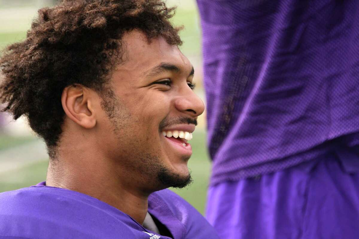 University at Albany wide receiver Donovan McDonald is seen during practice at Casey Stadium on Wednesday, Sept. 20, 2017 in Albany, N.Y. (Lori Van Buren / Times Union)