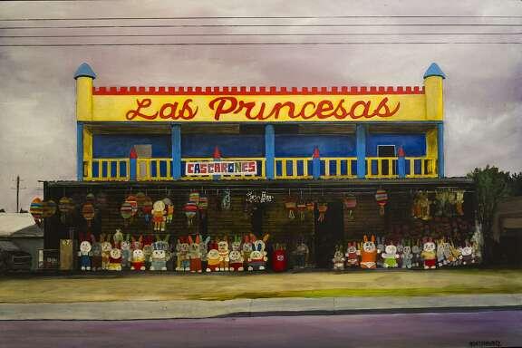 """Las Princesas,"" by Ana Fernandez depicts a West Side party favor store."