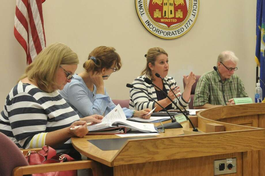 Superintendent Melanie Brady-Shanley shared an improvement plan for the Winchester Public Schools with the Board of Education last week. Photo: Ben Lambert / Hearst Connecticut Media