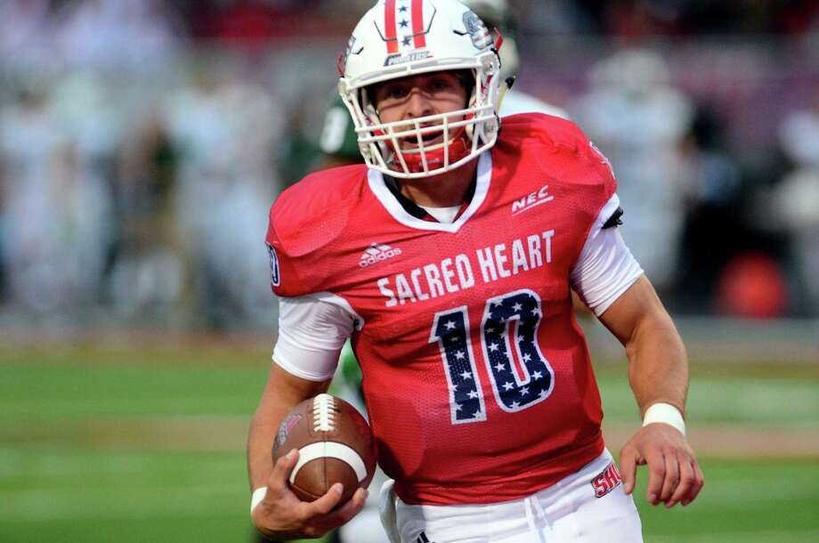 Quarterback Ken Duke and his Sacred Heart teammates are looking to rebound from a 45-7 rout at Stony Book last Saturday. Photo: Christian Abraham / Hearst Connecticut Media / Connecticut Post