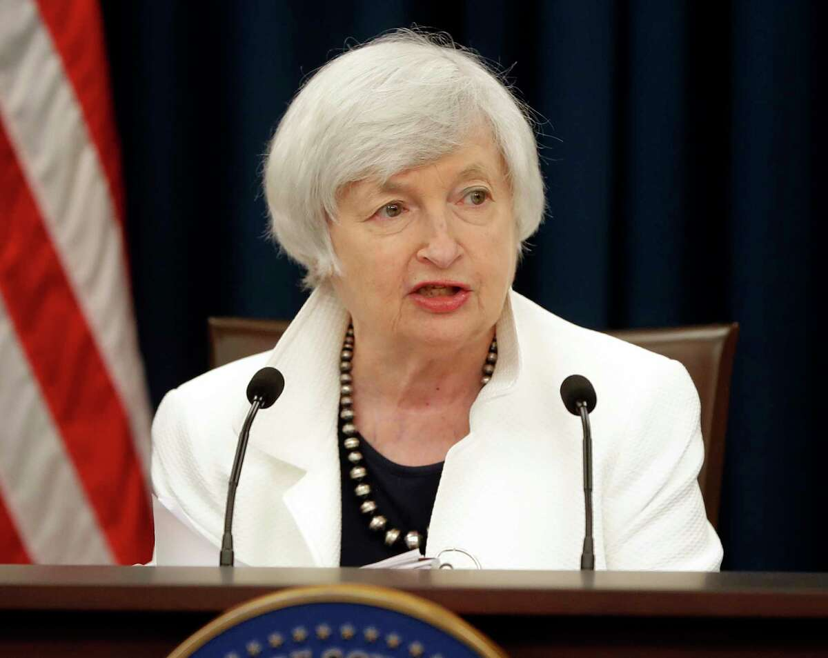 Federal Reserve Chair Janet Yellen speaks at a news conference following the Federal Open Market Committee meeting in Washington, Wednesday, Sept. 20, 2017. (AP Photo/Pablo Martinez Monsivais) ORG XMIT: DCPM102