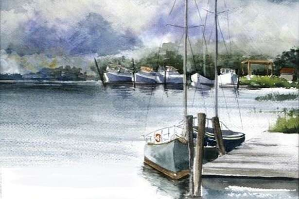 The plein air painting group, The French Connection, will hold an exhibit at Mac650 gallery in October. Above, Deep River Landing by member Diane Rubacha, included in the upcoming exhibition.