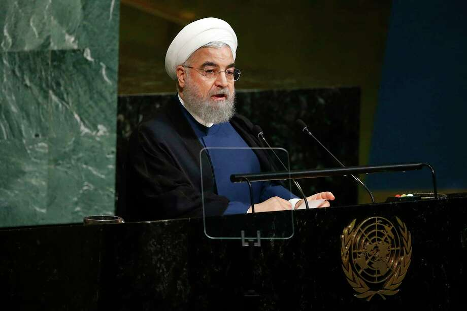 Iranian President Hassan Rouhani addresses the United Nations General Assembly at U.N. headquarters, Wednesday, Sept. 20, 2017. (AP Photo/Jason DeCrow) Photo: Jason DeCrow, FRE / FR103966 AP