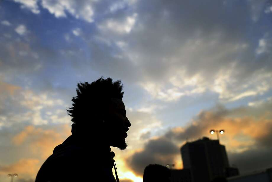 Golden State Warriors' rookie Jordan Bell waits for the start of the J.P. Morgan Corporate Challenge 5K in San Francisco, Calif., on Thursday, September 7, 2017. Photo: Scott Strazzante / The Chronicle / San Francisco Chronicle