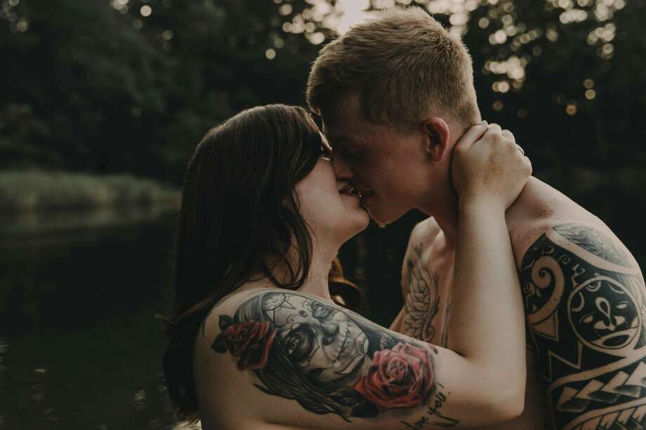 A boudoir photo shoot of the couple Arryn and Stephanie has garnered national attention for its powerful message about body positivity and loving yourself. Photo: Wolf & Rose Photography