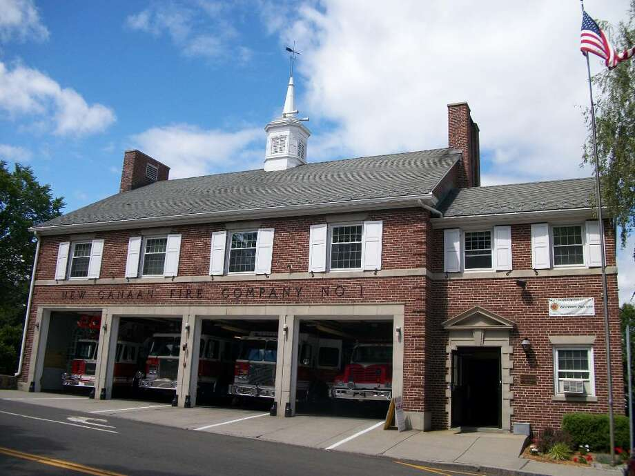 The New Canaan Fire Department building has stood at the corner of Main Street and Locust Avenue since June 1938. Photo: Maggie Gordon / New Canaan News