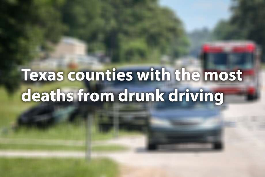 Texas counties suffering from drunk driving