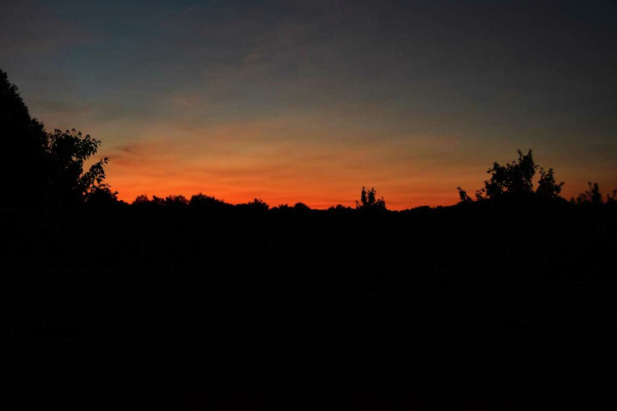 Sunset over June Farms. The West Sand Lake property was developed and is owned by Matt Baumgartner, who founded Bombers Burrito Bar and is still the principal owner of Wolff's Biergarten and The Olde English Pub. Photographed on Sept., 12, 2017. (Steve Barnes/Times Union)