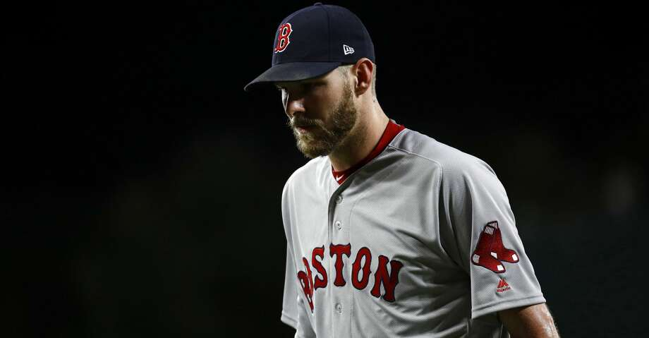 Boston Red Sox starting pitcher Chris Sale walks off the field after the second inning of a baseball game against the Baltimore Orioles in Baltimore, Wednesday, Sept. 20, 2017. (AP Photo/Patrick Semansky) Photo: Patrick Semansky/Associated Press