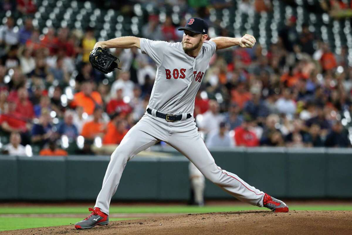 BALTIMORE, MD - SEPTEMBER 20: Starting pitcher Chris Sale #41 of the Boston Red Sox throws to a Baltimore Orioles batter in the first inning at Oriole Park at Camden Yards on September 20, 2017 in Baltimore, Maryland. (Photo by Rob Carr/Getty Images) ORG XMIT: 700012534