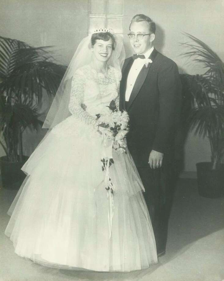 Patricia Horden married Burr Corner on Nov. 10, 1956, in the Gordonville Methodist Church. After two receptions, they drove in a blizzard to spend the night in Charlie and Ethel McGraw's cottage in St. Helen.