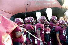 Central's varsity gather in their tunnel before taking the field against Port Arthur Memorial during their season openers at The Thomas Center Wednesday. Like many area schools, football season was delayed and mid-week games are being scheduled to help catch up on district play. Photo taken Wednesday, September 20, 2017 Kim Brent/The Enterprise